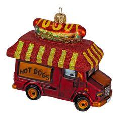 Everyone needs a hot dog van on their Christmas tree this year! Christmas Tree Baubles, Hot Dogs, Van, Vans