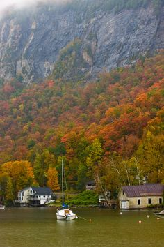 Cliffs of Mount Pisgah above Lake Willoughby in Vermont | Jerry and Marcy Monkman, Yankee Magazine