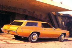 """❦ This is the """"Casa de Eldorado"""" station wagon built for rat-pack member Dean Martin at a reported cost of $ 18,000 ...not including the base car!  At least four were built and there were other orders on hand, in 1970, for twelve more units. One of these may have been owned by singer Glen Campbell."""