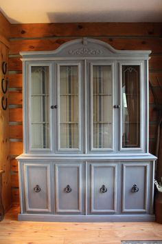 Buffet and hutch. Louis blue for sale on JennyLaneFurniture Etsy.com https://www.etsy.com/listing/227860008/china-hutch-and-buffet