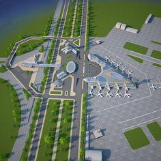 Istanbul New Airport, Airport Design, Cinema 4d, Amazing Architecture, Dubai, City Photo, Tourism, 3d, Digital