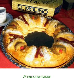 Rosca de Reyes, traditional bread served on Dia de los reyes Magos, in beginning of January.