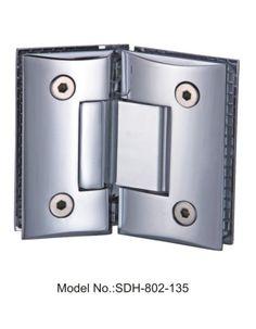 135 degree shower door hinges for 516u2033 to 12u2033 tempered