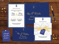 Whovian Wedding Invitation Suite Printable