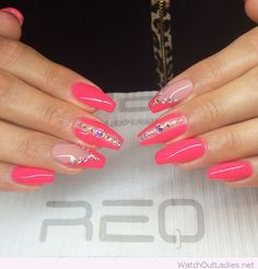 Awesome hot pink nail color