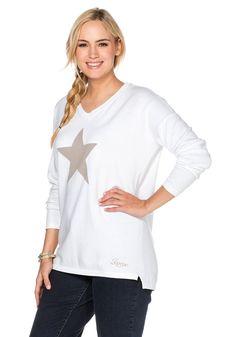 sheego Casual Pullover - weiß | Damenmode online kaufen