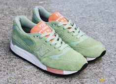 New Balance 998 Mint: Money Green. The ones I have are SO ugly compared to these jewels! Embarassing