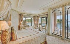 The suite's bedroom