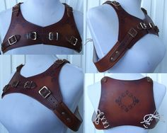 Bolero Harness in Leather by Wolfs Crafts. $95 Up on Etsy soon, or send me a message
