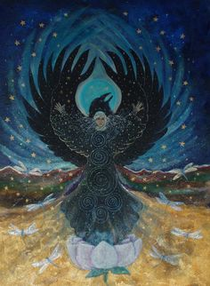 Carl Jung associated the raven with our shadow, that part of our psyche that we refuse to see or acknowledge. When we contemplate raven energy, we can tap into the courage to hold all of ourselves in awareness. The shadow contains the energy that we need to grow, to change, to break through from egoic pettiness and worry into the full, radiant being that each of us has already become. -ShamanTube