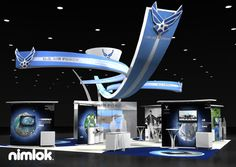 Nimlok builds and designs custom and portable trade show booths and business exhibits. For Marcom group we built a large-scale military exhibit to meet their needs.