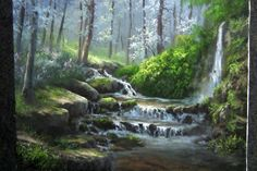 Do you struggle to add effective light to your paintings? Watch Kevin as he shows you how to paint this forest waterfall with lots of light. For more information about oil paint and brushes, visit www.paintwithkevin.com