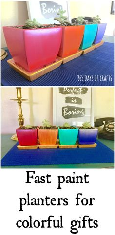 Diy painted planters
