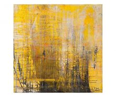 Digitaler Leinwanddruck Black On Yellow, 80 x 80 cm Painting Inspiration, Canvas Prints, Abstract, Yellow, Color, Black, Design, Man Cave, Interior