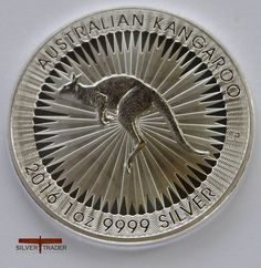 The 2016 Australian Kangaroo 1 ounce silver bullion coin, Struck in .999 fine Silver, As a Perth Mint first it has a micro engraved security feature.