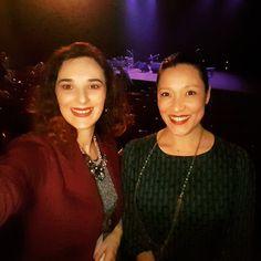 Aqui pra ver o show da maravilhosa amiga, Consuelo de Paula, no Centro Cultural Olido. Amo essa cantora!! Eu e linda Sarah Abreu.