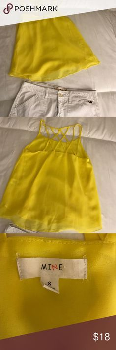 Yellow tank Super cute yellow tank never worn. New without tags. Tops
