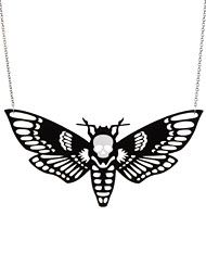 Spellbinding Outfits! - Death Head Moth Necklace by CuriOddity Jewelry