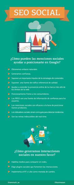 Las Redes Sociales figuran entre los factores más relevantes para el posicionamiento en buscadores, el SEO social tiene mucho que decir