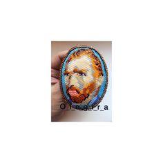 Beaded Peyote Van Gogh ,Beaded Brick Stitch Van Gogh ,Bead weaving Pattern Van Gogh, Tutorial on bea Van Gogh, Weaving Patterns, Peyote Stitch, Brick Stitch, Bead Weaving, American Indians, Bricks, Poppies, Stud Earrings