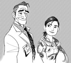 CosmoAnimato Dr. Callaghan and Abigail in BH6 Design of Abigail is inspired by actress Grace Park.