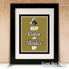 Purdue University Boilermakers  Keep Calm and by GameDayPress, $9.95