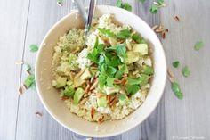 Кускус на обед и ужин: салат с авокадо и шафрановый кускус с бараниной