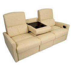 """The Monaco double recliner blends the best of both worlds—the sofa and the recliner—in one package. This attractive double recliner was built to help the user unwind with reclining footrests that offer full leg support. The unique wall hugger design allows the Monaco to sit 2-3"""" from the wall and still be able to fully recline. In addition, the center console comes with cup holders and a handy storage unit to place drinks or snacks. 1,600K"""