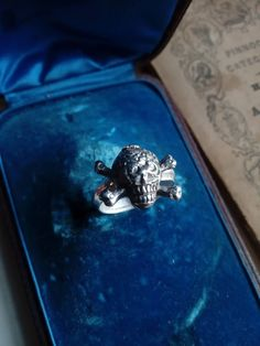 Jewelry and the Darkside: Fashionable Gothic Jewelry - Jewelry Daze Pagan Jewelry, Skull Jewelry, Gothic Jewelry, Memento Mori Ring, Antique Boxes, Gothic Accessories, Handmade Rings, Skull And Bones, Georgian