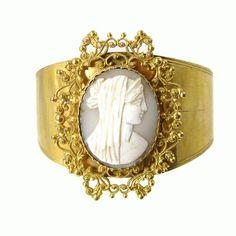 Basia Zarzycka - ornate gold cameo cuff
