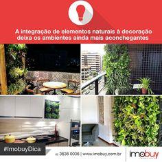 As plantas, seja por meio de jardins verticais ou vasos, são ótimas para dar vida e cor aos ambientes. #ImobuyDica