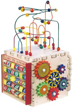Activity Wooden Play Cube