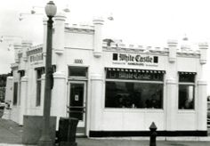 Exterior view of White Castle number 24. Located at 6000 Chippewa St. in St. Louis, Missouri. Opened on November 13, 1937. Photograph was taken December 21, 1949.
