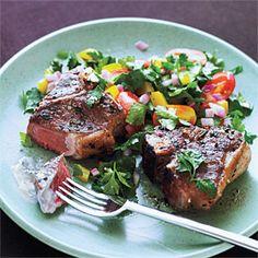 Greek Lamb Chops and Mint Yogurt Sauce | MyRecipes.com.  rated outstanding!