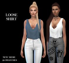 The Sims 4: LeoSims - Loose Shirt