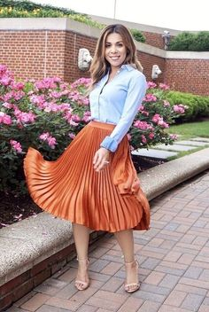 Cheap Summer Outfits, Cute Work Outfits, Modest Outfits, Skirt Outfits, Modest Fashion, Dress Skirt, Fashion Outfits, Womens Fashion, Pleated Skirt