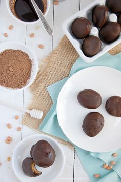HEALTHY EASTER TREATS! Make Healthy Chocolate Peanut Butter Eggs{raw & vegan}. Gluten-free, Dairy-free | thekitchenmccabe.com