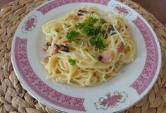 Jak uvařit š §pagety po uhlířsku – Carbonara Charcoal Recipe, Carbonara Recept, Spaghetti, Toast, Cooking, Ethnic Recipes, Food, Kitchen, Essen