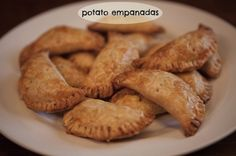 Potato and Cheese Empanadas. All you need is store-bought pie crust, leftover or instant mashed potatoes, cheese and chilies!