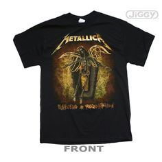 """JiGGy.Com - Metallica - Ascend T-Shirt Metallica t-shirt with a different spin on the album cover artwork for their 2008 release, """"Death Magnetic"""" on front. Printed on a black 100% cotton t-shirt."""