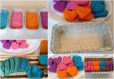 Wooloo | Gâteau avec un coeur caché multicolore
