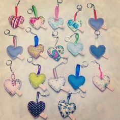 Heart shape Em Teacup keyrings