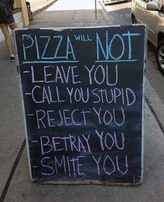 Pizza will not...