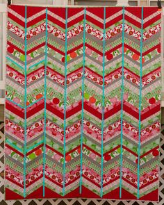 Chevron Quilt Tips from the blue chair
