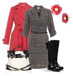 Días de Lluvia by outfits-de-moda2 on Polyvore featuring moda, Monsoon, Marella, Coach, Burberry and Betsey Johnson