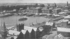 Circular Quay in The Rocks Sydney, Darling Harbour, Sydney Australia, Vintage Travel, Historical Photos, Old World, Old Photos, Paris Skyline