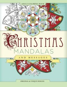 Christmas Mandalas And Messages Adult Coloring Book Mix Books To View Further For