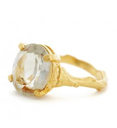 Browse Drop In The Wild Ring With Prasiolite & Gold and more from Chupi at Wolf & Badger - the leading destination for independent designer fashion, jewellery and homewares. 18k Gold Jewelry, Quartz Jewelry, Jewelry Rings, Quartz Ring, Green Emerald Ring, Gold Band Ring, Band Rings, Prasiolite, Green Quartz