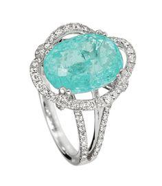 Paraiba Tourmaline and diamonds