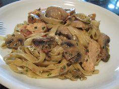 Tagliatelle con pollo e funghi « kochen & backen leicht gemacht mit Schritt für Schritt Bilder von & mit Slava